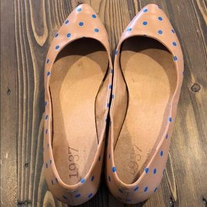 Madewell sidewalk skimmer polka dot flats